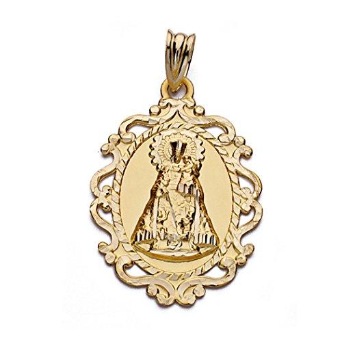 Medalla Oro 18K Virgen Desamparados Cerco 30mm. [Aa0531Gr] - Personalizable - Grabación Incluida En El Precio