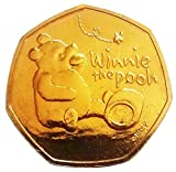 Coins for collectors - 24K Gold Plated 2020 Winnie The Pooh Uncirculated 50p Coin with Airtile Capsule Holder in a pouch wallet