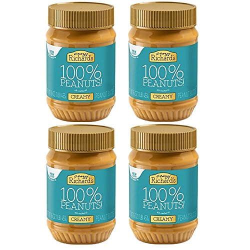 Crazy Richard Peanut Butter, Creamy, 16 oz (4...