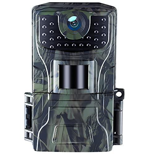 Fototrappola Caccia 20MP 1080P Impermeabile IP66 Visione Notturna Videocamera da gioco Attivata dal Movimento 0.4s Tempo di Attivazione Monitoraggio Della Fauna Selvatica e Sorveglianza Domestica
