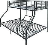 Humza Amani Palmdale Metal Triple Sleeper Bunk Bed with 2 Economy Mattress Set