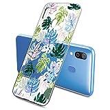 Suhctup Compatible con Samsung Galaxy A6S Funda Flor de TPU Transparente Diseño de Flores Patrón...