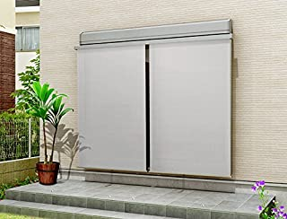 スタイルシェード 外付けスクリーン 2枚仕様 枠付き 単体サッシ 半外付型用 25628 W:2,730mm × H:3,030mm 生地色:シックベージュ(E) ボックス色:オータムブラウン(G) LIXIL リクシル TOSTEM トステム