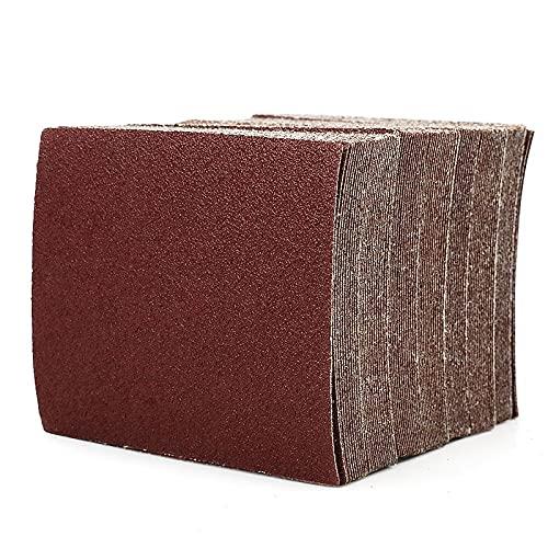 LYQIU Papel de Lija Papel abrasivo de 20 Piezas 110 * 100 mm Papel de Lijado de 110 mm *100 mm Papel de Arena de Flocado para la carpintería (Grit 60 80 100 320 a 1000) Tela de esmeril