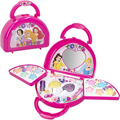 Disney - Maletín maquillaje Princesas Disney para niños y niñas, Juego de maquillaje para niñas 5-6-7 años, Pintauñas niñas Manicura juguete (77212)