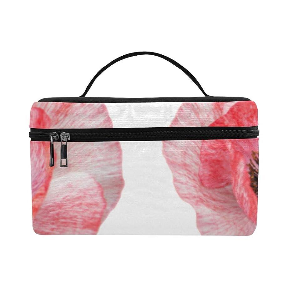 意図的ご近所蛾LNJKD メイクボックス ケシの花 コスメ収納 化粧品収納ケース 大容量 収納ボックス 化粧品入れ 化粧バッグ 旅行用 メイクブラシバッグ 化粧箱 持ち運び便利 プロ用