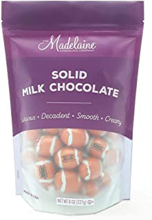 Madelaine Premium Milk Chocolate Footballs - Party Favor Candy - Football Coach Gift - Wrapped In Italian Foil (1/2 LB)