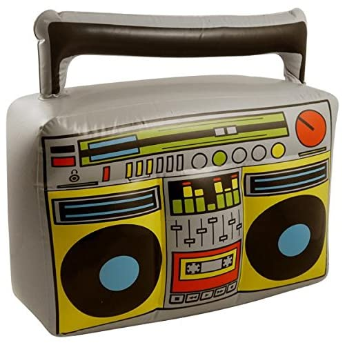 HENBRANDT Inflatable Blow Up Boom Box Music Player Ghetto Blaster Novelty Fancy Dress Prop