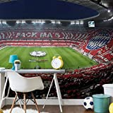 Fototapete Bayern München Stadion Choreo Pack Mas Vlies Tapete Fußball Bundesliga Sportverein Allianz Arena Fan Wappen Wall-Art 432x300 cm
