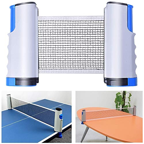 Buy Bargain Kilcvt Retractable Ping Pong Net, Retractable Table Tennis Nets Replacement Adjustable, ...