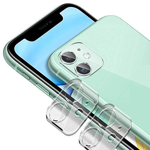 Anacase [2 unidades] Protector de lente de cámara para iPhone 11, [libre de burbujas] Ultra claro pantalla de cristal templado cubierta de lente de la cámara protección completa contra arañazos