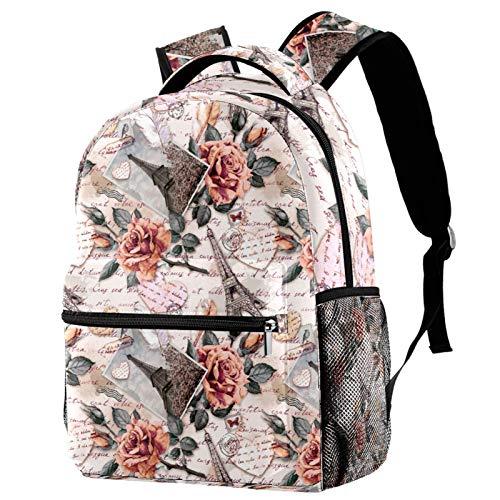 Mochila divertida con diseño de calavera con flores para colegio, mochila para senderismo, mochila de viaje para mujeres y hombres