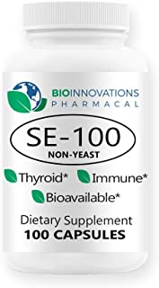 Bio-Innovations Pharmacal SE-100 100 mcg (100 Count) - Pure Selenium Yeast-Free Supports Immune, Cardiovascular, and Thyro...