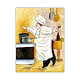 LiMengQi2 Cartoon Anime Restaurant Canvas Painting Bakery Cook Poster Kitchen Coffee Wall Art Picture Decoración del hogar (sin Marco)
