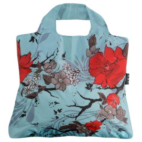 Envirosax WL.B3 Omnisax Wanderlust Reusable Shopping Bag, Blue