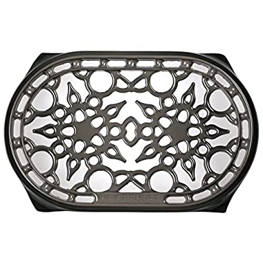 Le Creuset Cast Iron Deluxe Oval Trivet, 10 1/2 x 6 3/4, Oyster