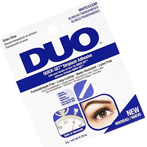 Ardell Duo Quick Set Clear / Transparent, Wimpernkleber für künstliche Wimpern, das Original für perfekte Lashes (durchsichtig), 5g (1x)