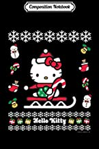 Composition Notebook: Hello Kitty Ugly Christmas Sweater Long Sleeve Journal/Notebook Blank Lined Ruled 6x9 100 Pages