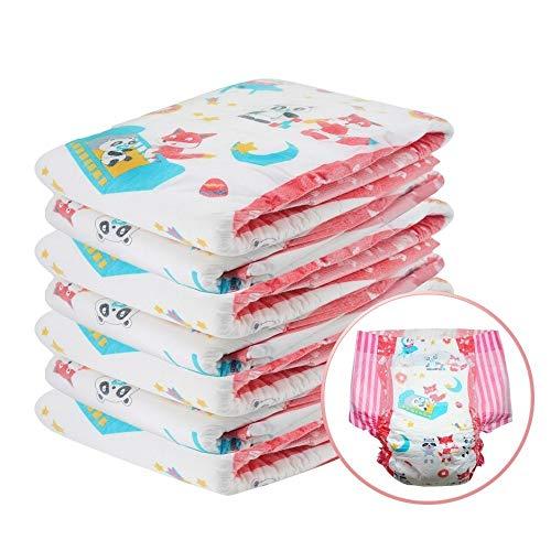 ZYC ABDL Diaper Liebhaber Nettes Druckmuster elastische Taille Windel DDLG Adult-Baby-Windel Hohe Schallabsorption 6000ml Windel,G