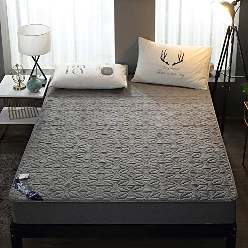 YCEOT 1,6m (5,2 voet) bed Katoen Terry Matrassen Pad Cover Anti Mites Bed Sheet Waterdichte Matrasbeschermer voor Bed Matrassen Topper