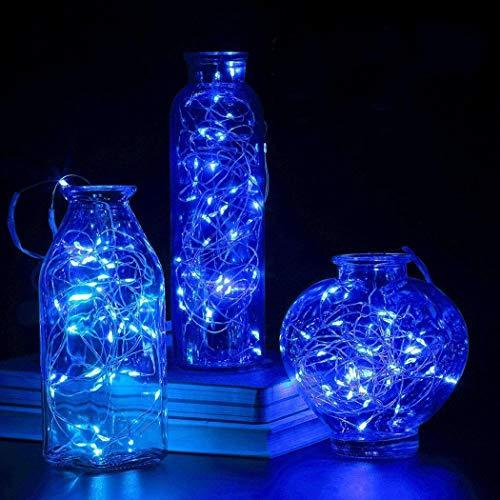 Guirnalda de 50 luces LED de 5 m para decoración de bodas, fiestas y Navidad