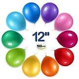 RAINBEAN Party Dekoration Ballons, Hergestellt aus starkem Latex, 12-Zoll-Regenbogen-Anzug (100 pro...