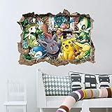 Pocket Monster Pokemon Go Pikachu Diguda Maison Stickers 3D Vent Déco Autocollant Mural Monde Célèbre Jeu De Bande Dessinée Pour La Chambre Des Enfants