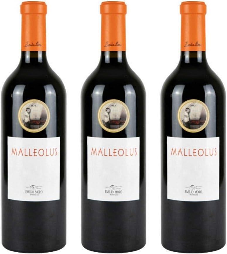 Malleolus Vino tinto - 3 botellas x 750ml - total: 2250 ml