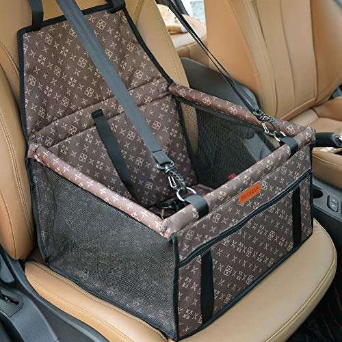 SWIHELP Seggiolino Auto per Cane, Trasportino Auto Borsa per Cani, Coprisedile Impermeabile per Proteggere Sedile di Automobile per Animali Domestici [ Blue ]