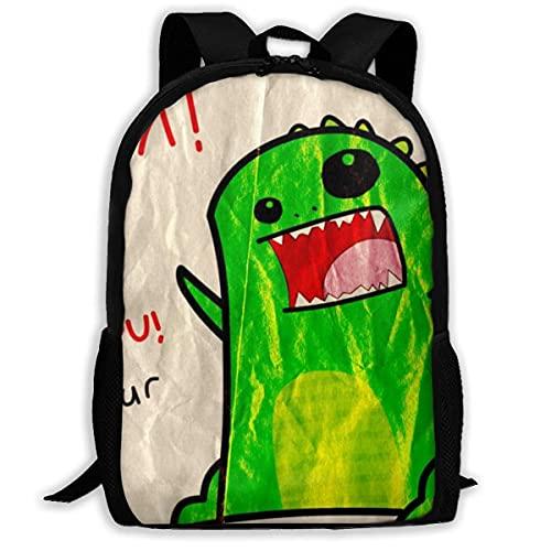 XCNGG Dinosaurio divertido amor impresión viaje Camping mochila escolar mochila multiusos para adultos y niños