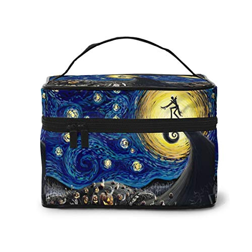 Starry Night Makeup Bag Organizer for Travel Cosmetic Bags with Handle Toiletry Bags for Women Girls
