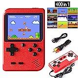 ETPARK Consola de Juegos Portátil, 400 Juegos Retro 2.8 Pulgadas Pantalla a Color Soporte para Jugadores Duales y Conexión de TV