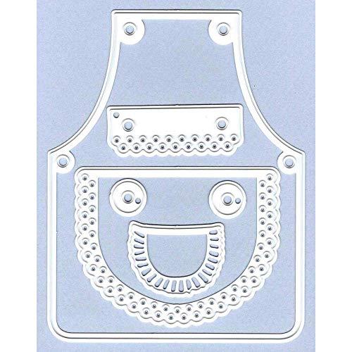Marianne Design Troqueles con diseño Delantal, Metal, Gris, 8.2 x 10.5 x 0.30 cm