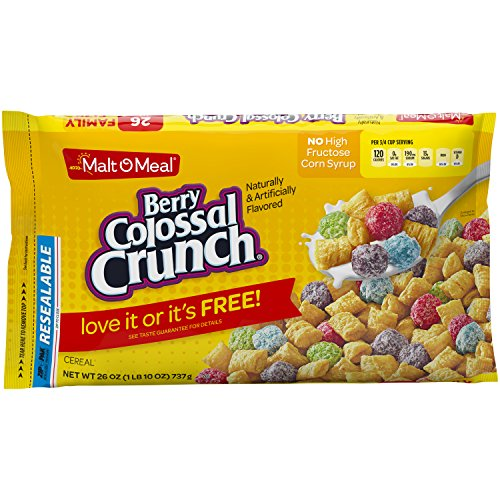 Malt-O-Meal Berry Colossal Crunch Breakfast Cereal, 26 Ounce (Pack of 8)
