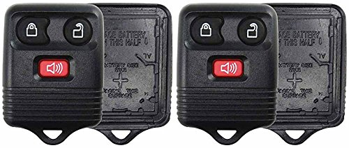 KeylessOption Just the Case Keyless Entry Remote Key Fob Shell Replacement - Black (Pack of 2)