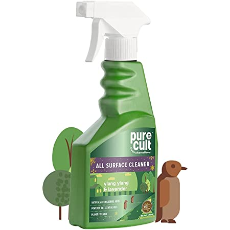 PureCult All Surface Cleaner with Yang-Ylang and Lavender Essential Oils - Biodegradable - Kids and Pet Friendly – 500ml (ASCL_YYL_500)