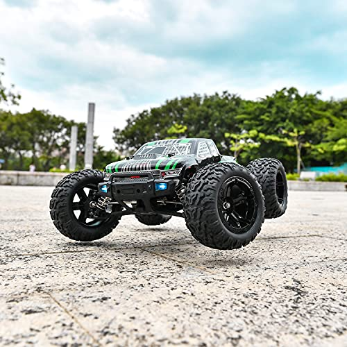 BEZGAR HM101 Hobby Grade 1:10 Scale Remote Control Truck with 550 Motor, 4WD Top Speed 42 Km/h All Terrains Off Road Monster Truck ,Waterproof RC Car with 2 Rechargeable Batteries for Kids and Adults