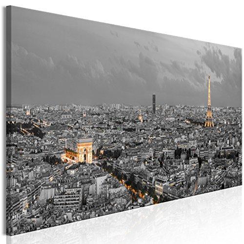 murando Cuadro en Lienzo Paris 135x45 cm 1 Parte impresión en Material Tejido no Tejido Cuadro de Pared impresión artística fotografía Imagen gráfica decoración City Ciudad Camino d-B-0219-b-a
