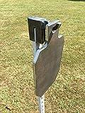 "Steel Shooting Targets 12"" Tall IDPA/ISPC 3/8' AR500 Range Target w/T-Post Hook"