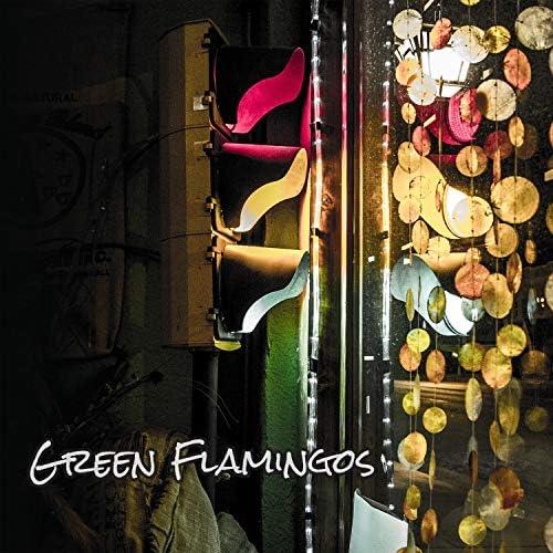 Green Flamingos