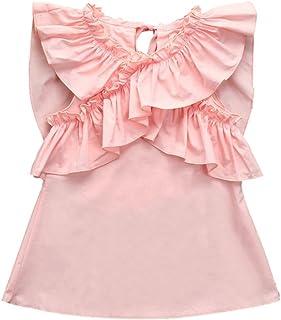 Tonsee ベビードレス ガールズ 夏 ワンピース フリル プリンセスドレス 赤ちゃん服 パーティードレス 結婚式 70CM-100CM
