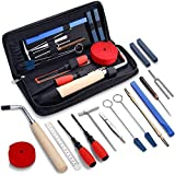 MIFOGE 18Pcs Piano Tuning Tool Kit Professional Piano Tuner Kit Tools Including Tuning Hammer Mute Lever Felt, Tuning Wrench, Tuning Fork, Temperament Strip, Piano Repairing Accessories