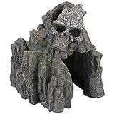 Balacoo Aquarium Cave Ornament Fish Tank Resin Rock Skull Cueva de Montaña para Acuario Fish Sleep Rest Hide Play