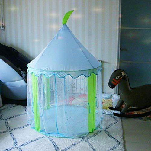 RONGJJ Zelt Indoor-Spielhaus Babyspielzeug Baby Zaun Mesh Pailletten Mongolisches Zelt Drinnen Draußen -100 Pc, Blau