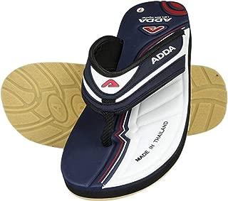 ADDA Rolex-02 White/N.Blue Colour Slipers & Flip Flops for Boy's