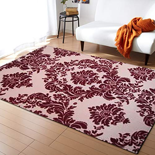 Double-Layer Thick Non-Slip European Style Printed Carpet Suitable For Office, Lounge, Bedroom Foot Pads Will Not Shed Hair