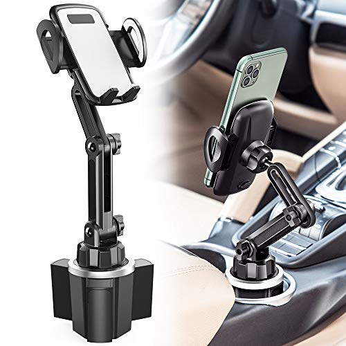 Car Cup Holder Phone Mount, CTYBB Cup Holder Cradle Car Mount with Adjustable Neck for Cell Phones iPhone 11 Pro/iPhone 11/11/XR/XS/8/7 Plus/6s, Samsung S10/S10 Plus/S9/S8 Edge/Note9, Huawei etc.