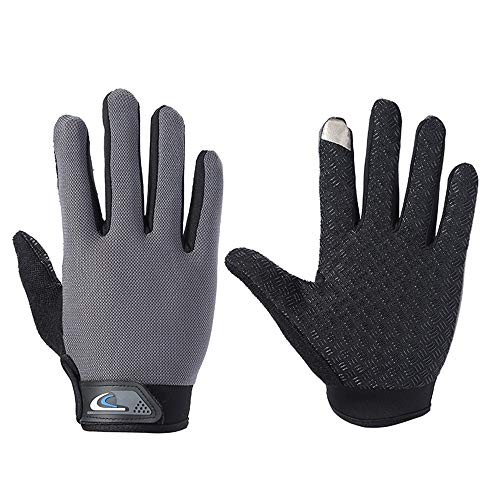 Vollfinger-Trainings-Handschuhe Gym Übung Half Finger Fitness-Handschuhe Heavy Weight Lifting Leder Palm Schutz Strong Grip Padded Qualitätsbreathable Komfort Handschuhe (Größe : L)