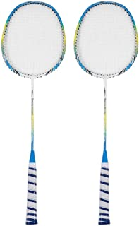 Racket, 2 Pcs Badminton Racket, Lightweight Training Racquets with Bag, Hard to Break, Suitable for Playing with Friends o...
