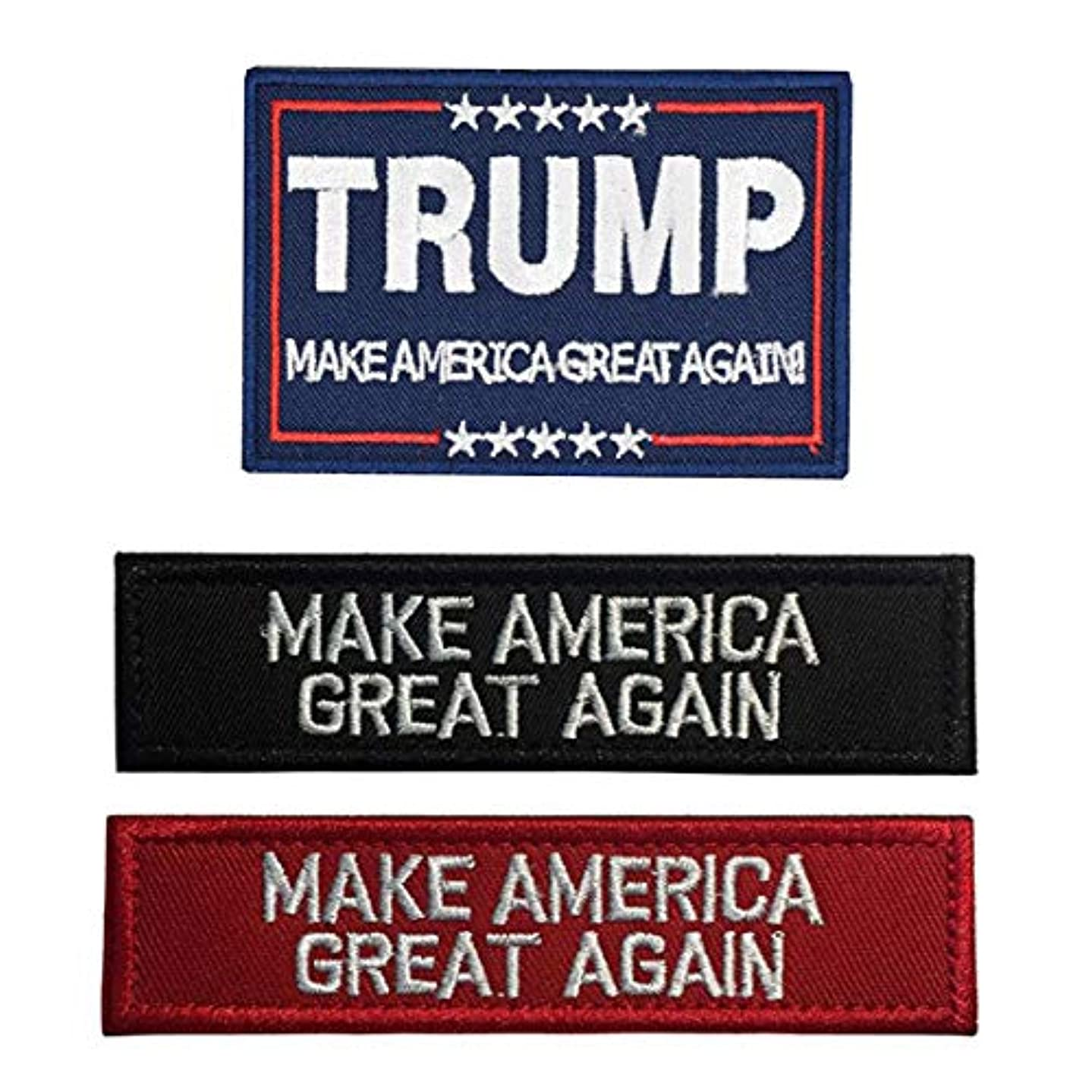 Antrix 3 Pack Trump Make America Great Again/Make America Great Again Hook & Loop Tactical Military Morale Badge Patches